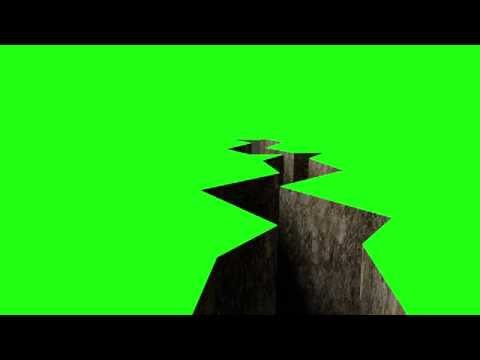 Green Screen Earthquake Shatter Effect HD