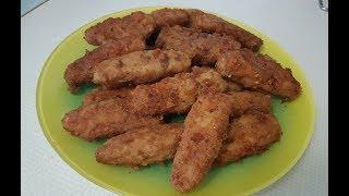 Мясные палочки с сыром в сухарях