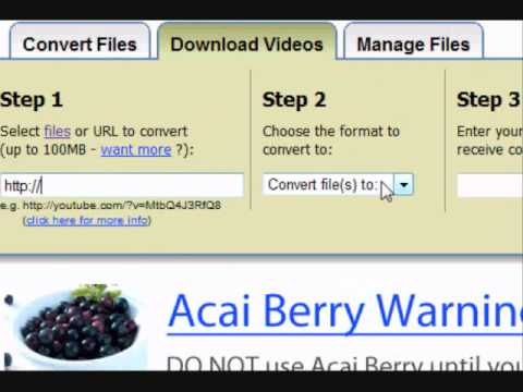 How to use zamzar and download videos for free youtube how to use zamzar and download videos for free ccuart Images