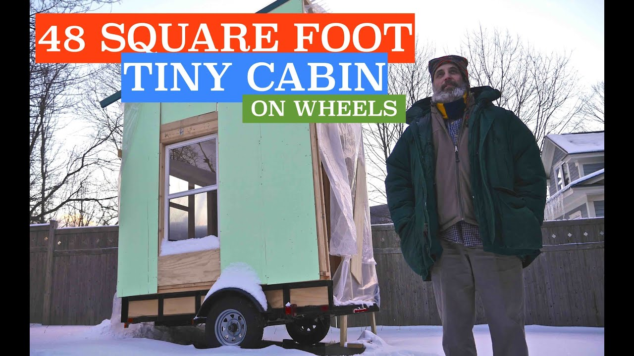future 48 square foot airbnb tiny cabin house on wheels