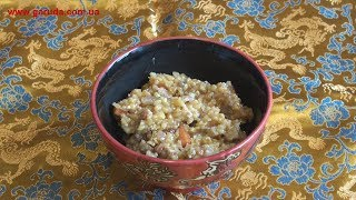 Кукурузная каша с овощами и специями - почти мамалыга, но вкуснее!