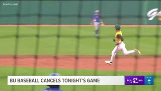 BU Baseball cancels tonight's game