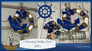 3 Nautical Dollar Tree DIY's