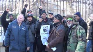 Woodlawn Cemetery Workers Stand Up And Speak Out On Martin Luther King Day
