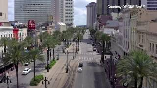 New Orleans streets silent as city braces for a spike in cases