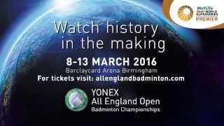 yonex all england open badminton championships 2016 promo short edit