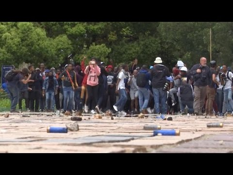 Police clash with students in Johannesburg over tuition fee hikes