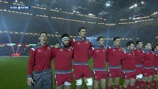Welsh National Anthem, Wales v England, 06th Feb 2015