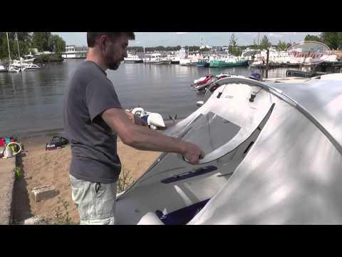 Установка тента на пвх лодку heavy duty