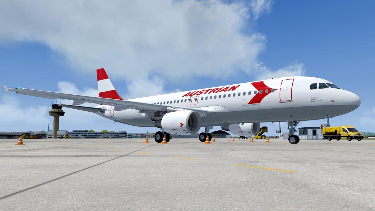 Austrian Airbus A320 Retro Flight from Innsbruck to Salzburg [P3D V4.5]