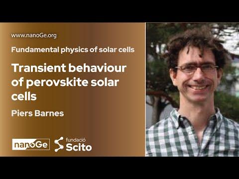 Transient behaviour of perovskite solar cells   Piers Barnes