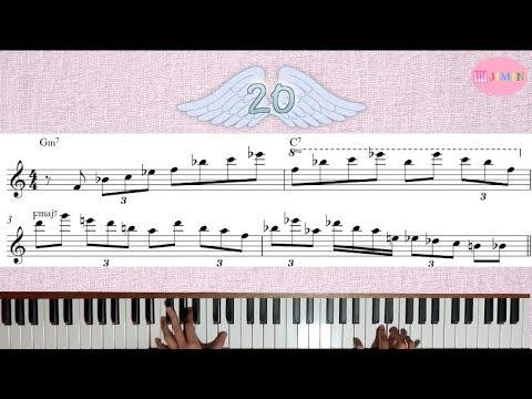 20 Jazz Licks sobre II V I - Bebop Piano 2 - 5 - 1