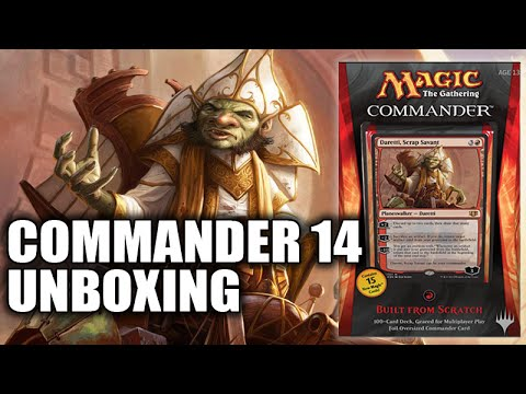 """Commander 2014 Red Deck """"Built from Scratch"""" Unboxing"""