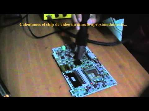 Reparación problema de vídeo HP Omni 120 todo en uno (reflow)