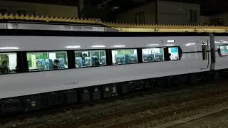 110-1.【新型車両E353系】特急スーパーあずさ29号松本行き,甲府駅到着~発車