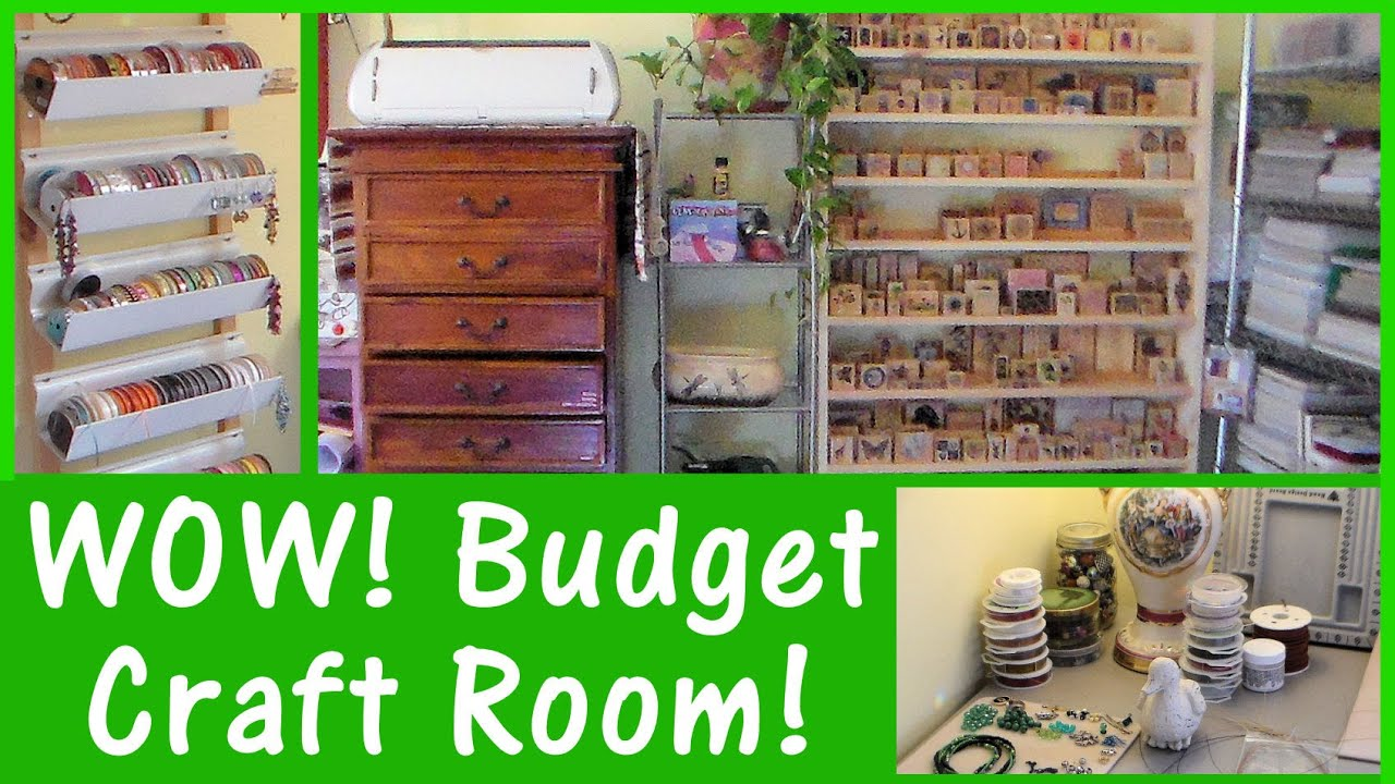 Craft rooms on a budget - New Home Real Craft Room Set Up Money Saving Tips Ideas