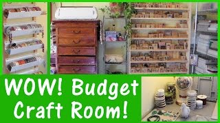 New Home REAL Craft Room Set Up! Money saving tips & ideas!