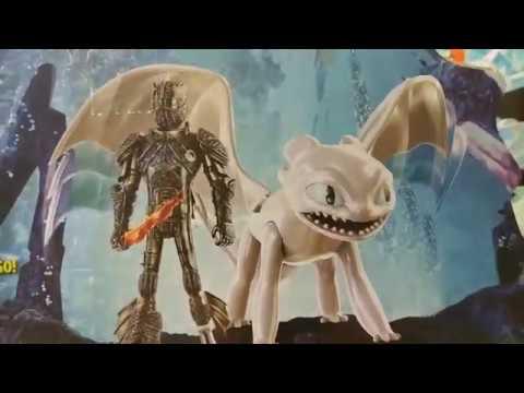 Дневная Фурия, Иккинг, Беззубик из как приручить дракона-3. Обзор. Распаковка.