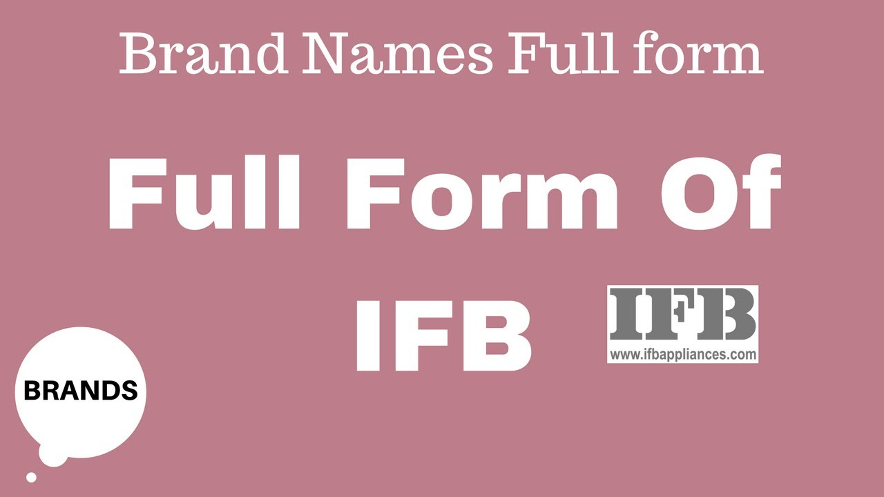 Full Form of IFB - YouTube