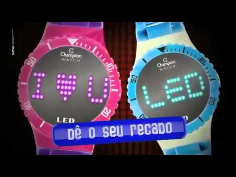55b5d67be41 Relógio Champion Led Troca Pulseiras (www.relogiomania.com.br) - YouTube