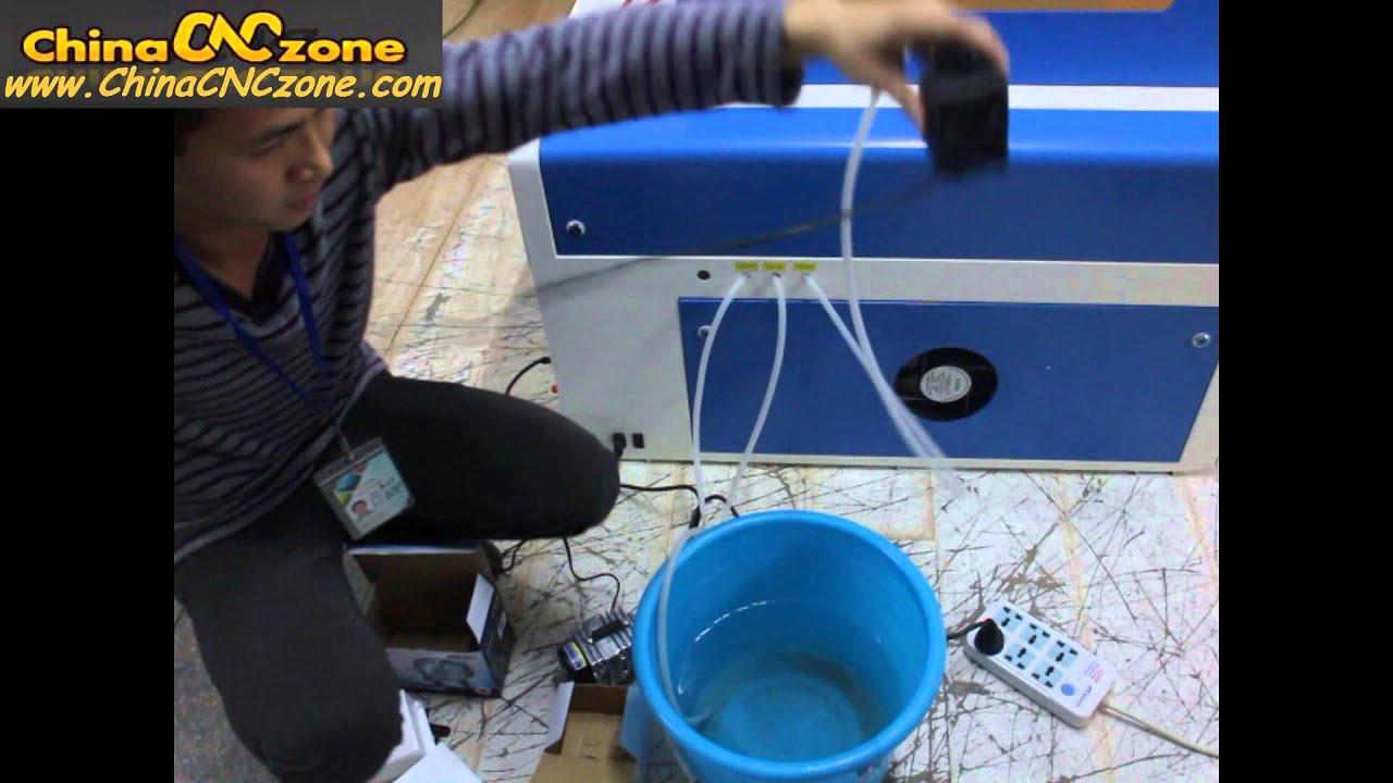 50W CO2 DIY 3D Laser Engraving Machine XB 460 ---Install Water Pump