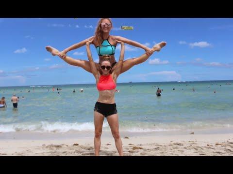 Yoga Challenge: Miami Beach! | Sam and Teagan
