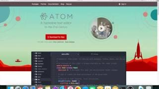 My text editor, Atom, and my setup
