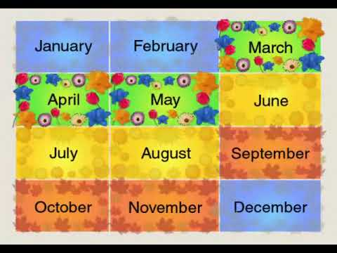 Months Of The Year Song By Waterford Org Youtube