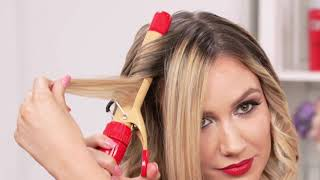 Retro Waves using the CHI Triple Curl Interchangeable Curling Iron