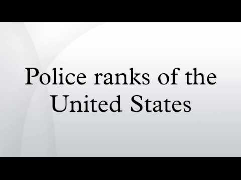 Law Enforcement Ranks >> Police Ranks Of The United States