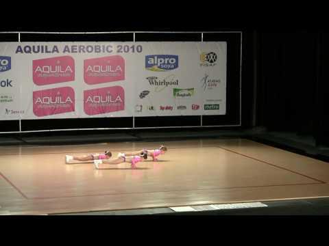 Aerobic - sportovní aerobic 8-10 let, finále MČR Mladá Boleslav 15.5. 2010