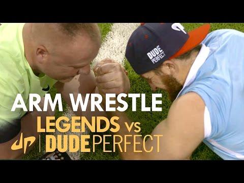 ARM WRESTLE | Tyler v Andy Morrison | Legends v The Dudes