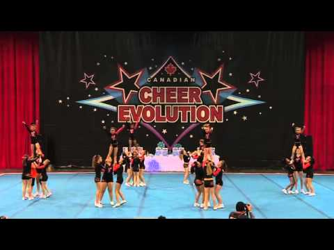 CE Winterfest 2014 - LJ2 - Tigers Cheerleading - Caspian Tigers