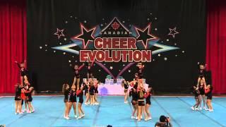 CE Winterfest 2014 - LJ2 - Tigers Cheerleading - Caspian Tigers