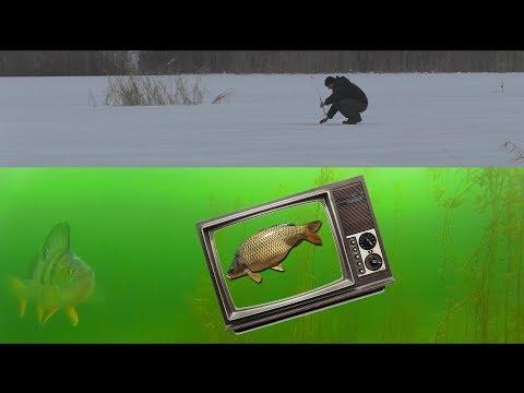 Зимняя рыбалка. Ловим рыбу в карьере при помощи