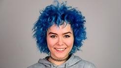 BLAUE Haare leicht gefärbt  | V - Hair | Valentina Vale