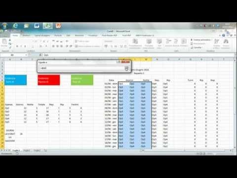 Turni Interattivi Con Excel