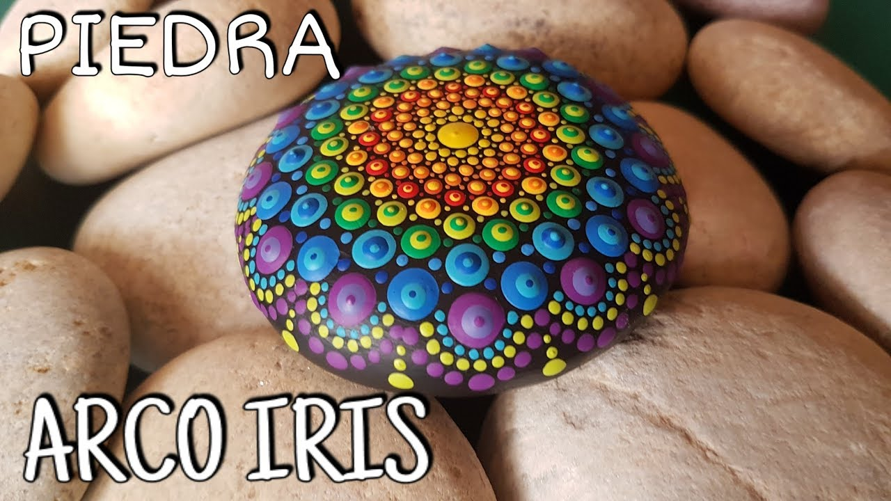 How To Paint Mandalas On Stones 4 Rainbow Stone
