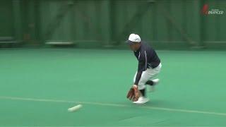 ADVANCED Baseball 遊撃手 「三遊間のゴロを回り込んで捕球し一塁へ」 守備はリズムだ!