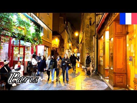 🇫🇷🎄Paris Christmas Walk 2020 - Le Marais from 4th arrondissement -【HDR 4K】