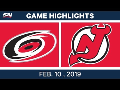 NHL Highlights | Hurricanes vs. Devils - Feb 10, 2019