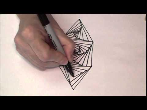 Progressive Art-Tangle-Triangle-Square