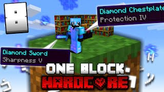 Minecraft ONE BLOCK SKYBLOCK, but it's HARDCORE! (#8)