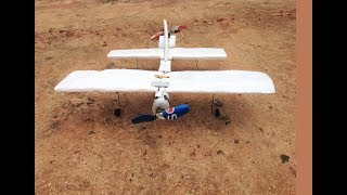 Wow, How to Make a Plane with 2 DVD Motors at home. Bucee Brain,