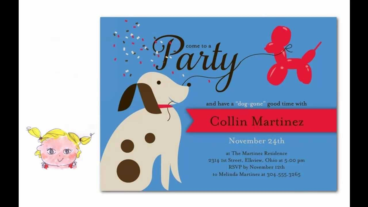 Dog Party Invitations Goldenacresdogs