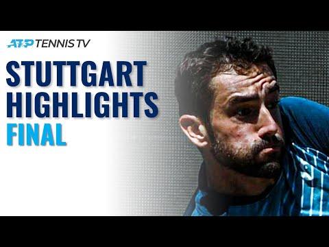 Marin Cilic vs Felix Auger-Aliassime   Stuttgart 2021 Final Highlights