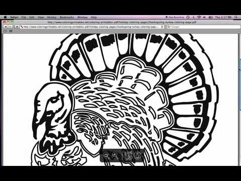 Free Thanksgiving Coloring Pages Youtube