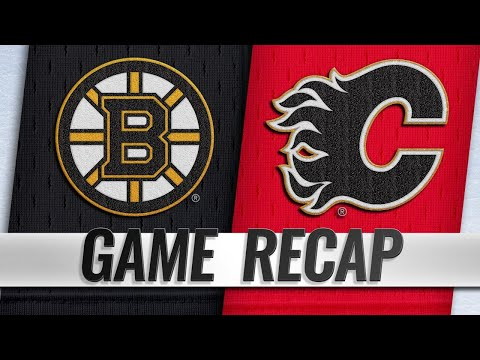 NHL China Games: Bruins survive Flames' late push for 4-3 shootout win