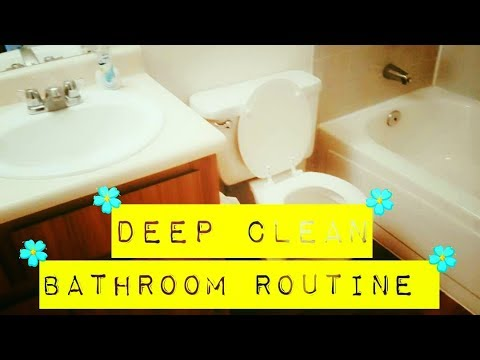 Deep cleaning bathroom routine youtube for Bathroom deep cleaning
