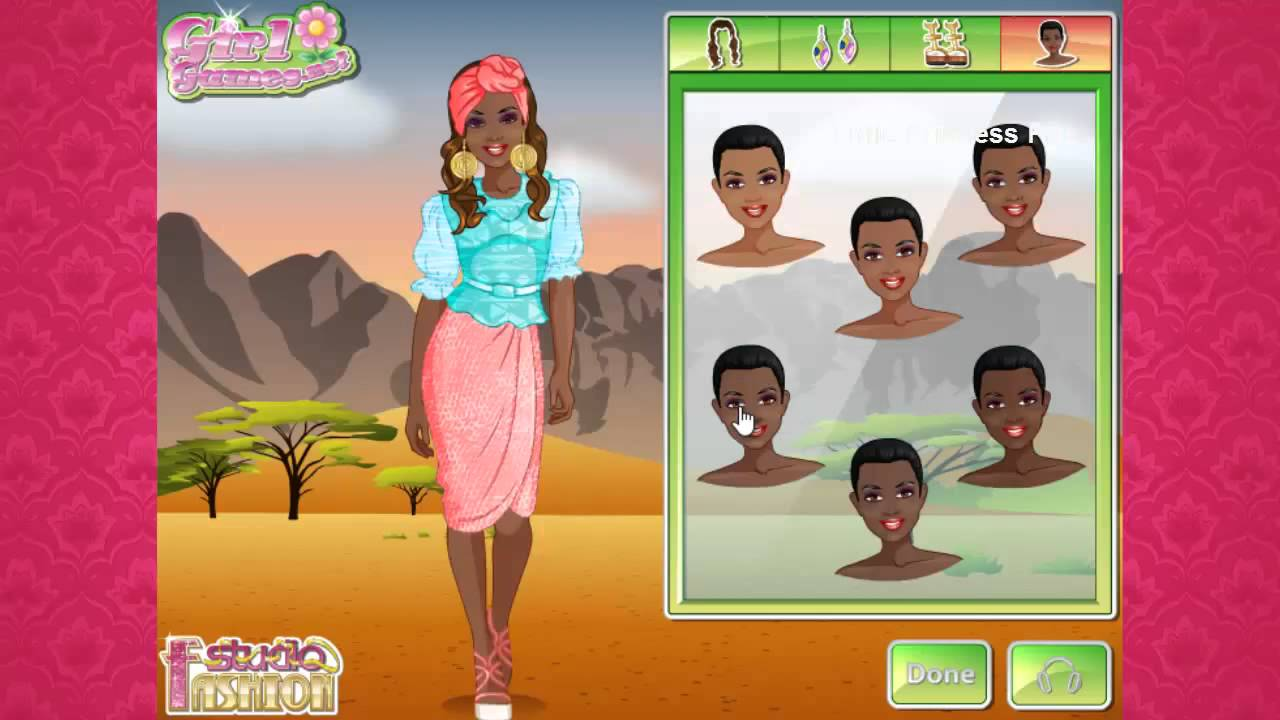 Fashion Studio African Style Dress Up Games For Girls Makeup Games For Girls Youtube